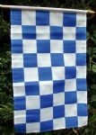 HAND WAVING FLAG - Blue & White Checkered